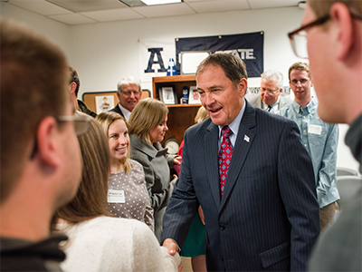Governor Herbert Visits Students with Disabilities at USU | CEHS