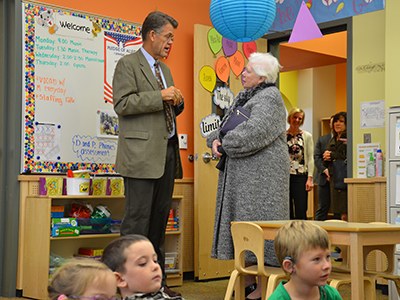 Representative of Queen Elizabeth visits CEHS