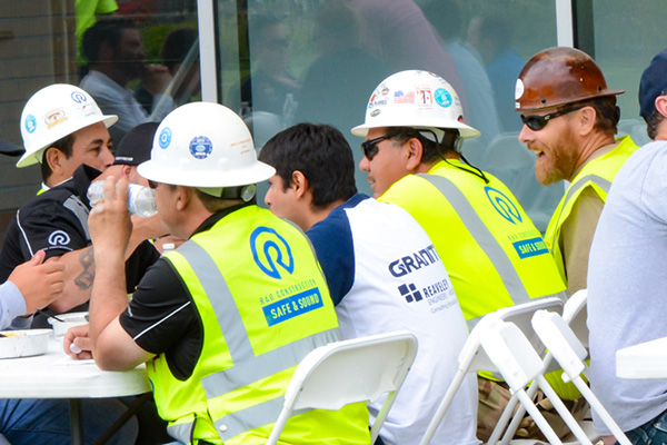 Sharing Our Appreciation: Dean Foley Hosts Lunch for Construction Workers | CEHS