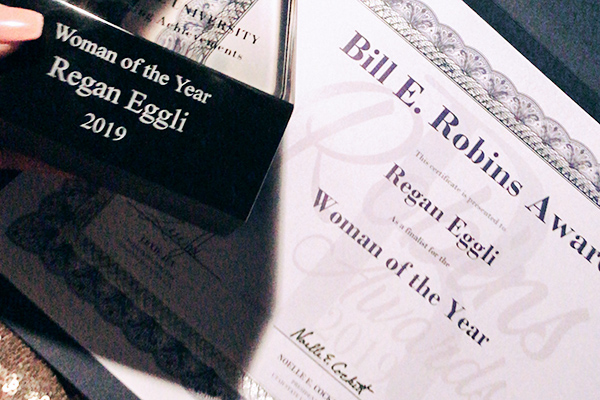 Regan Eggli, 2019 Robins Awards Woman of the Year